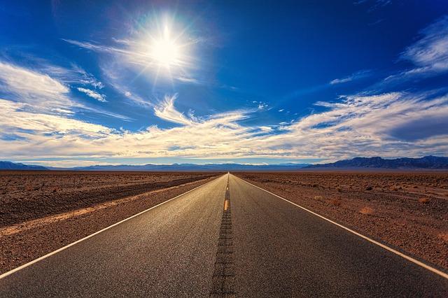 silnice v poušti