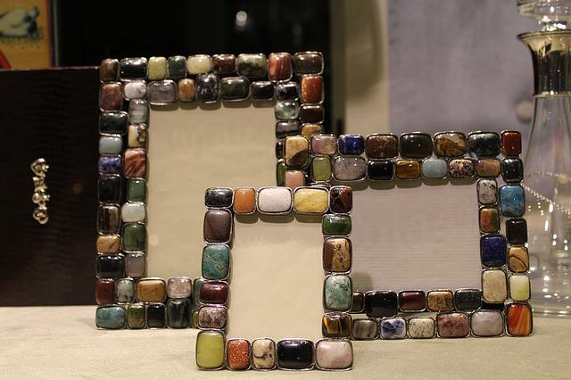 kamínkové fotorámečky