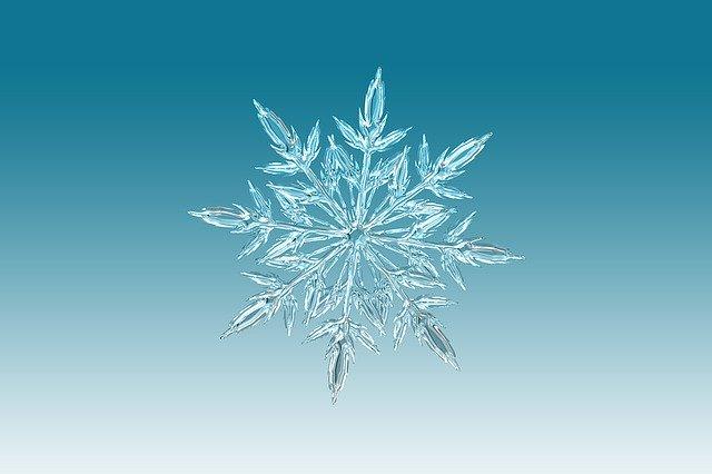 sněhová vločka – v tomto případě jako symbol přicházející zimy
